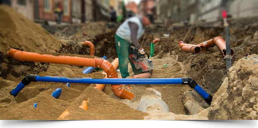 Water Service Installation : Chicago main water line repair installation in il